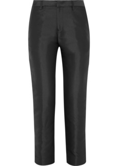 Jil Sander Silk-blend duchesse straight-leg pants