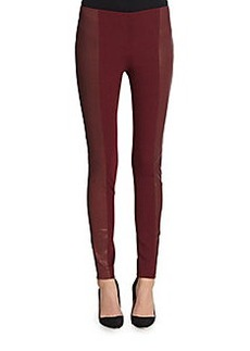 Lafayette 148 New York Nappa Leather & Ponte Knit Pants