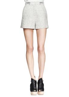 Proenza Schouler High-Waist Tweed Zip Shorts