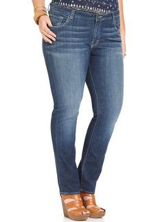 Lucky Brand Plus Size Ginger Straight-Leg Jeans, Medium Hayworth Wash