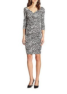 Diane von Furstenberg Bentley Ruched Silk Jersey Dress