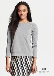 BR Monogram Silk-Back Sweatshirt