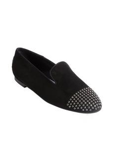 Tod's black suede cap toe flats