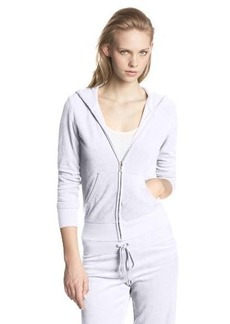 Juicy Couture Women's Solid Micro Terry Original Hoodie Jacket