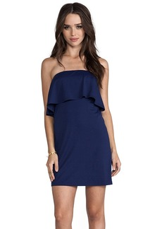 Susana Monaco Sansa Strapless Dress in Navy
