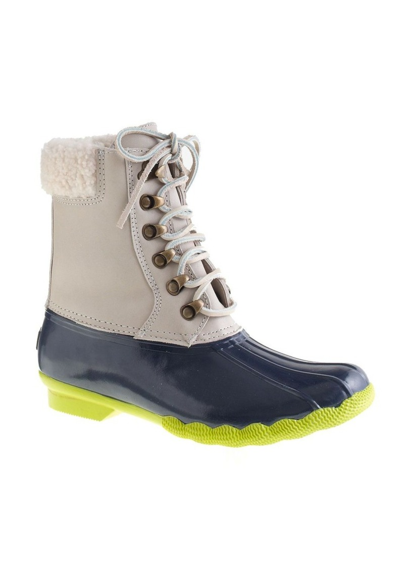 sperry top sider 174 for j crew leather shearwater boots