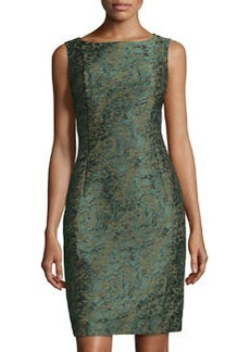 Lafayette 148 New York Faith Leopard Jacquard Sheath Dress, Mallard/Multi