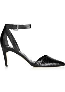 Sigerson Morrison Saber croc-effect leather pumps