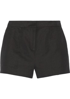 Valentino Linen and cotton-blend twill shorts