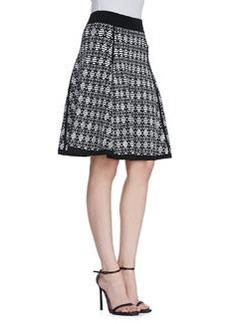 Catherine Malandrino Geometric-Print Jacquard Skirt