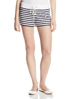 Juicy Couture Women's Stripe Micro Terry Drawstring Shorts