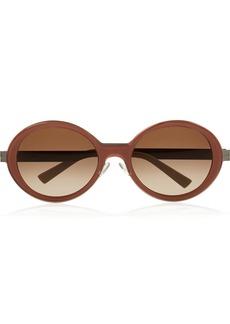 Marni Round-frame acetate and metal sunglasses