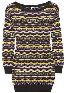 M Missoni Crochet-knit cotton-blend sweater