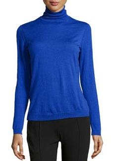 Lafayette 148 New York Wool Turtleneck Sweater, Electric Blue