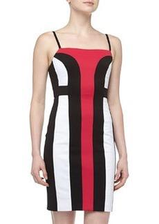 Susana Monaco Colorblock Combo Sheath Dress, Glama