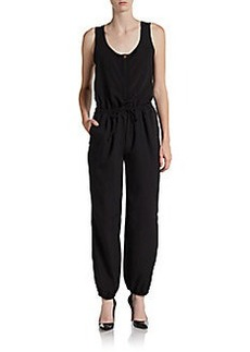 Saks Fifth Avenue BLACK Drawstring Jumpsuit
