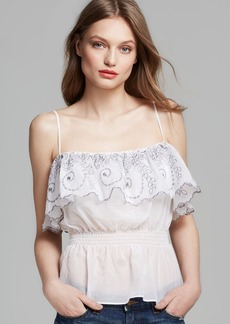 GUESS Top - Strappy Embroidered Eyelet