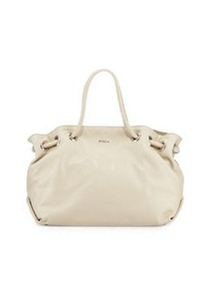 Furla Carmen Leather Medium Tote, Marble