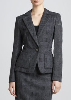 Escada Cutout-Flannel Jacket, Anthracite