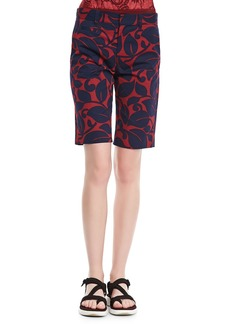 Marc Jacobs Floral Bermuda Shorts, Burgundy/Navy