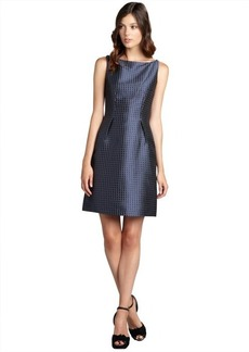 Elie Tahari navy shimmer patterned sleeveless boat neck 'Holly' dress