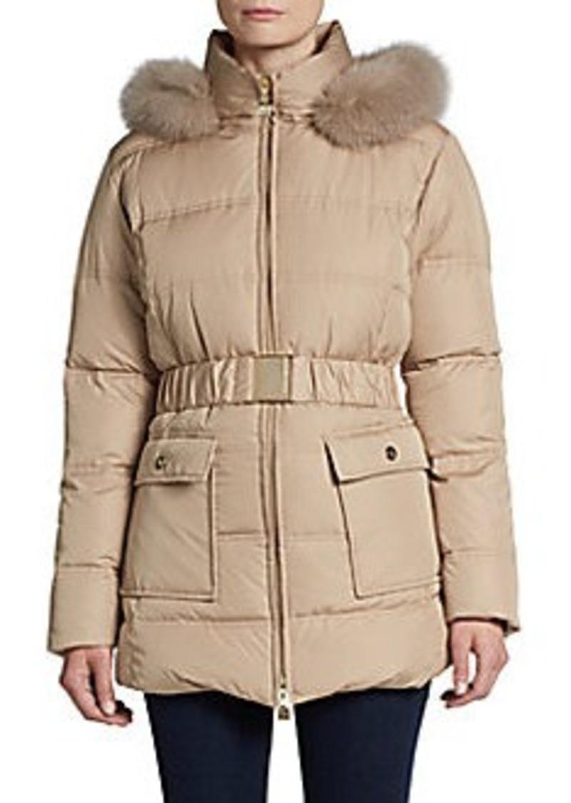 Cinzia Rocca Fur-Trimmed Down Puffer Jacket