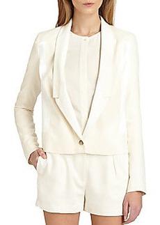 J Brand Ready-To-Wear Marion Leather-Trim Jacket