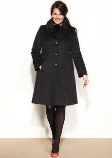 Jones New York Plus Size Wool-Blend Walker Coat