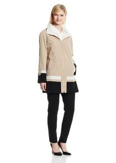 Jones New York Women's Color-Block Faux-Silk Jacket