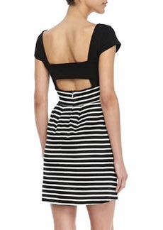 French Connection County Cotton Striped Dress