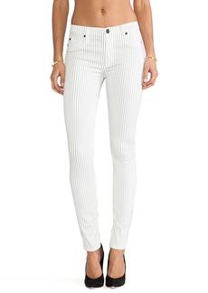 Hudson Jeans Nico Skinny in Blitz Black Pinstripe