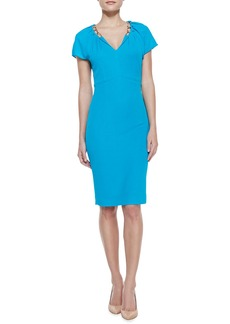 Escada Chain-Detailed Jersey Dress