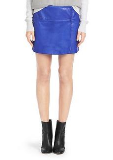 Liam Leather Mini Skirt