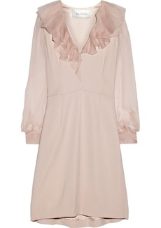 Valentino Ruffled stretch-crepe dress