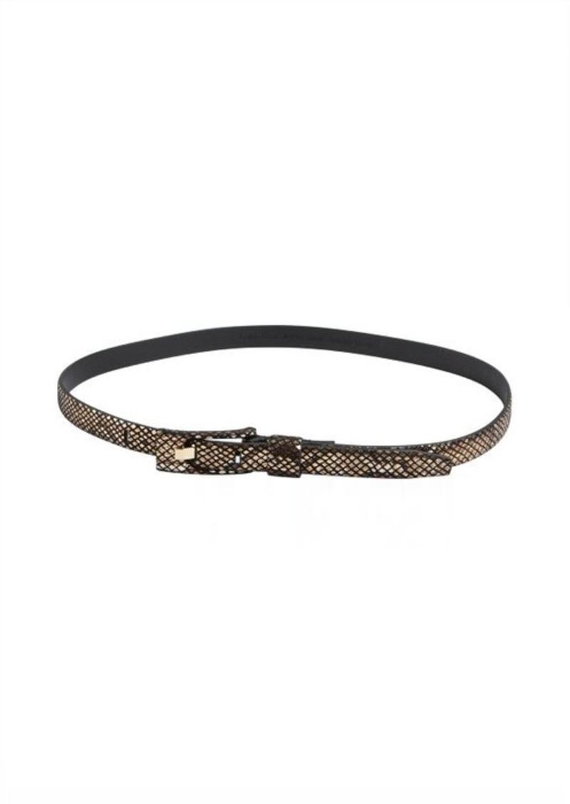 Calvin Klein bronze snake embossed skinny belt