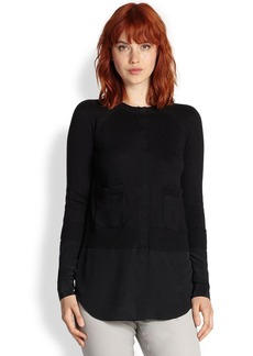 Saks Fifth Avenue Collection Layered Cardigan