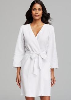 Oscar de La Renta Pink Label Lacy Comfort Waffle Knit Robe