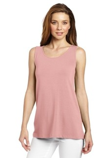 Three Dots Red Women's Relaxed Fit Tunic Tank
