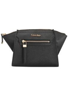 Calvin Klein Saffiano Leather Top Zip Clutch