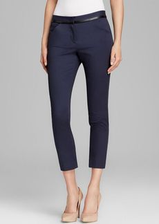 DKNYC Faux Leather Trim Straight Pants