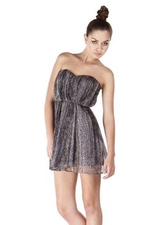 Twelfth St. By Cynthia Vincent Strapless Dress in Lurex Snake