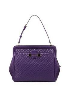 Jason Wu Quilted Leather Satchel Bag, Violet