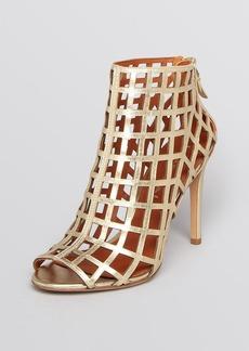 Via Spiga Open Toe Caged Booties - Elenora High Heel