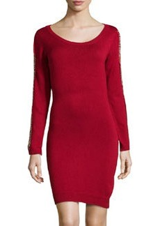 Marc New York by Andrew Marc Bead-Embellished Knit Sweaterdress, Poinsettia