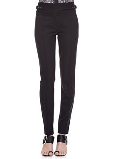 Jason Wu Bi-Stretch Wool Utility Pants, Black