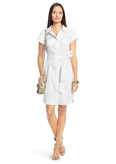 Aviana Short Sleeve Cotton Shirt Dress