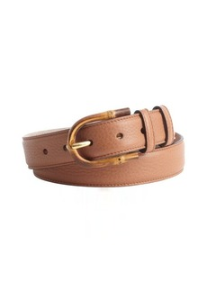 Gucci tan leather bamboo buckle belt