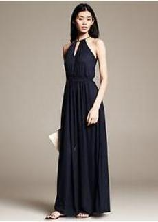 Navy Knit Patio Dress