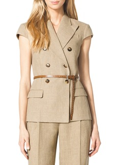 Michael Kors Linen Double-Breasted Jacket