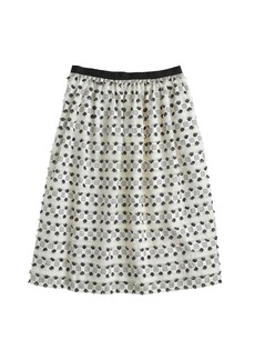 Collection frayed dot skirt